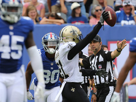 Watch: Victor Cruz fumbles, Saints recover