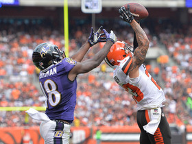 Watch: Joe Haden intercepts Joe Flacco in the end zone