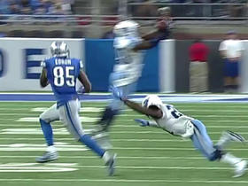 Watch: Perrish Cox seals the game by intercepting Matthew Stafford