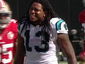 Cam Newton connects with Kelvin Benjamin for 27-yard gain