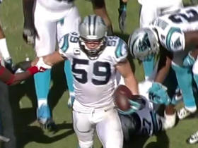 Watch: Luke Kuechly intercepts Blaine Gabbert for 1-yard gain