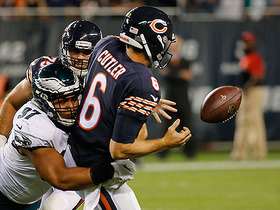 Jay Cutler fumbles on sack strip, Eagles recover