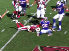 Watch: Carson Palmer sacked by Kyle Williams for -7 yards