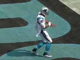 Watch: Cam Newton rushes for a 3-yard touchdown.