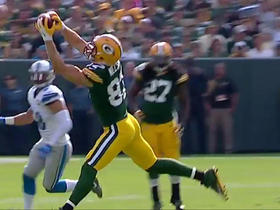 Watch: Jordy Nelson makes a 49 yard catch over the middle