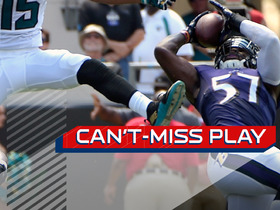 Watch: Can't-Miss Play: C.J. Mosley pulls in a diving one-handed INT