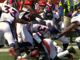 Watch: Broncos recover Bengals fumble