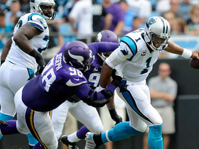 Watch: Cam Newton leaves field after sack