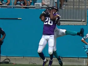 Watch: Waynes comes down with jump-ball INT of Newton