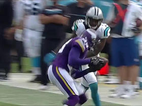 Watch: Terence Newman intercepts underthrown pass by Cam Newton