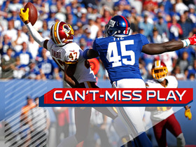 Can't-Miss Play: One-handed INT prevents Giants TD