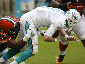 Watch: Ryan Tannehill sacked, fumbles on huge drive