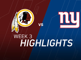 Watch: Redskins vs. Giants highlights