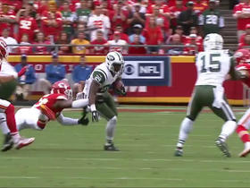 Watch: Bilal Powell fumbles, giving Chiefs prime field position