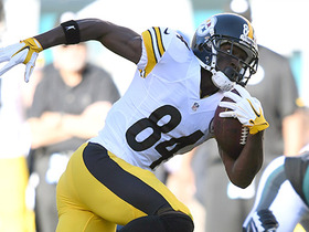 Watch: Antonio Brown gains 20 yards on back shoulder throw