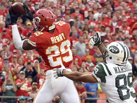 Ryan Fitzpatrick intercepted in the end zone by Eric Berry