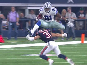 Watch: Ezekiel Elliott hurdles defender for 14 yards