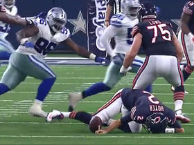 Watch: Brian Hoyer trips and fumbles, Cowboys recover