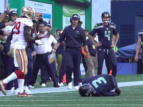 Watch: Locker Room Sound vs 49ers: Russell Wilson