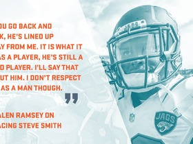 Watch: Player's Perspective: Steve Smith and Jalen Ramsey feud