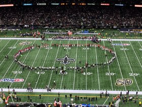 Watch: Saints and Falcons join hands in a circle of unity