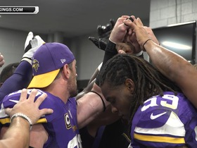 Watch: Vikings celebrate win against Panthers