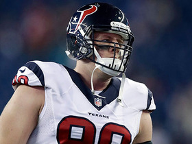 Watch: J.J. Watt re-injures back, expected to be out extended period of time