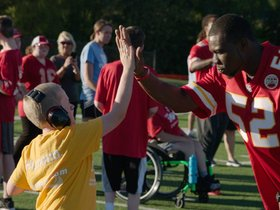 Watch: Chiefs Rookies Join YMCA Play60 Clinic