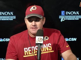 Watch: Jay Gruden Sees Improvement In Young Redskins
