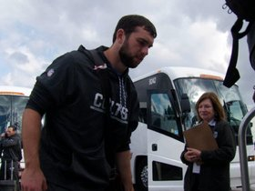 Watch: Colts Depart For London