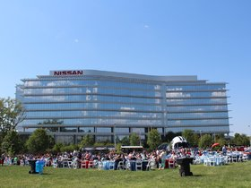 Watch: Titans, Nissan Host Pep Rally for 1,500 Employees