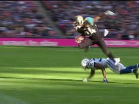 T.J. Yeldon hurdles for first down