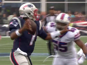Jerry Hughes sacks Jacoby Brissett for a 14-yard loss
