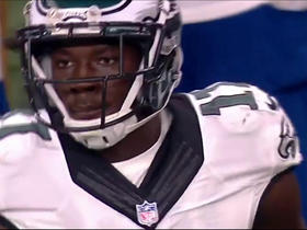 Nelson Agholor brings down 18-yard pass from Carson Wentz