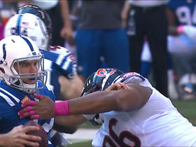 Akiem Hicks drops Andrew Luck