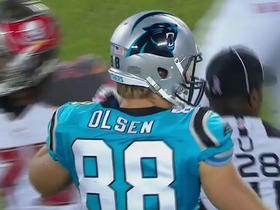 Anderson strikes pass to Greg Olsen for 24 yards