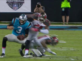 Watch: Derek Anderson fumbles on scramble, Bucs recover
