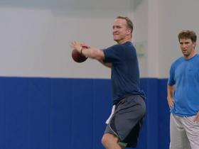 'The Timeline': Peyton and Eli 'silently battle' during drills all week at Duke