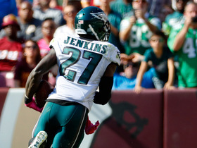 Watch: Malcolm Jenkins ties game with 86-yard pick-six off Kirk Cousins
