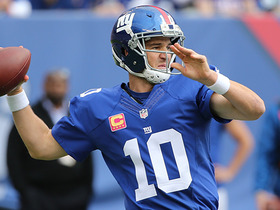 Watch: Eli Manning handles blitz, lofts 24-yard TD pass to Roger Lewis