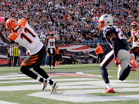 Watch: Dalton hits LaFell in back of endzone for tiptoe TD