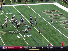 Drew Brees finds Josh Hill for improbable TD connection