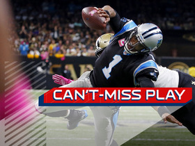 Watch: Can't-Miss Play: Cam Newton stretches ball over the pylon for huge 2-yard TD run