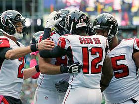 Watch: Matt Ryan ties game with 10-yard TD to Mohamed Sanu