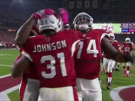 Watch: David Johnson rushes up the middle for 2-yard TD