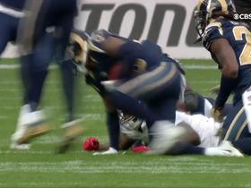 Larry Donnell fumbles, recovered by Rams