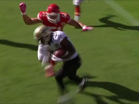Watch: Drew Brees lofts perfect fade pass to Brandin Cooks for TD