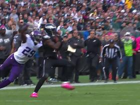 Watch: Nelson Agholor makes contested catch against Xavier Rhodes