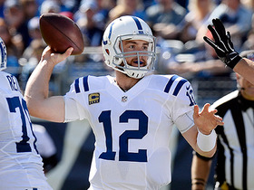 Watch: Andrew Luck on target to Chester Rogers for 21-yard pick up