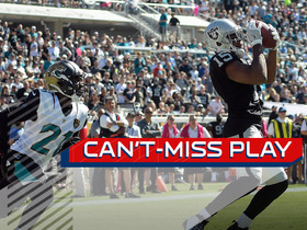 Watch: Can't-Miss Play: Crabtree holds on for 56 yards
